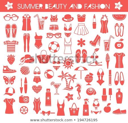 Beach Accessories Icons Set Stock photo © Voysla