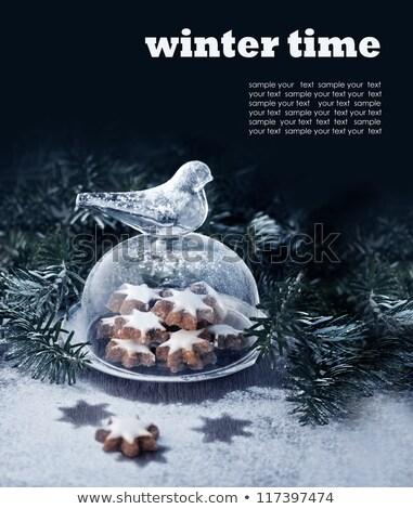 Bolinhos sino jarra café vidro fundo Foto stock © laciatek