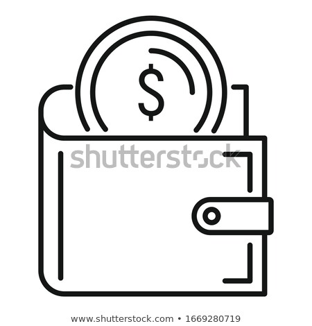 pénztárca · érmék · izolált · fehér · bank · bőr - stock fotó © jarin13