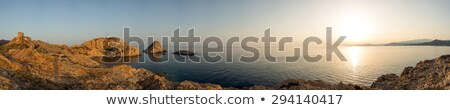 Panoramic view of Ile Rousse in Corsica Stock photo © Joningall