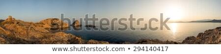 панорамный · мнение · Корсика · башни · Маяк · красный - Сток-фото © Joningall