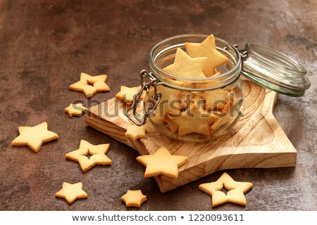 shortbread cookies in a jar stock photo © laciatek