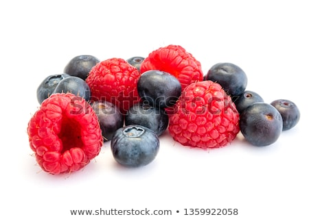 Raspberries and blueberries Stock photo © -Baks-