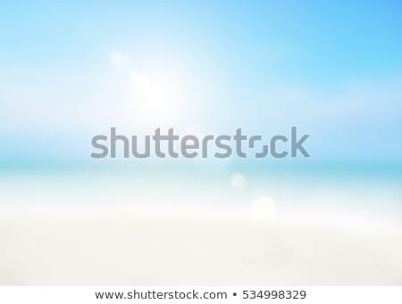 ocean · molo · streszczenie · rozmycie · tle - zdjęcia stock © yongkiet
