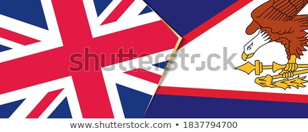 united kingdom and american samoa flags stock photo © istanbul2009