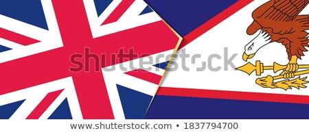 Reino Unido Samoa Americana bandeiras quebra-cabeça isolado branco Foto stock © Istanbul2009