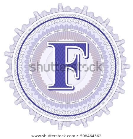Abstract guilloche Logo, letter-F Stock photo © netkov1