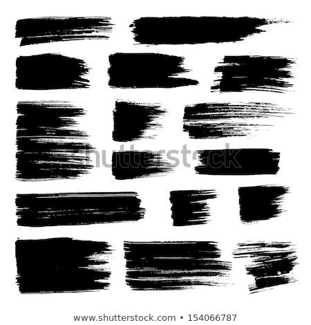 черный · краской · щетка · белый · фон · текстуры - Сток-фото © caimacanul