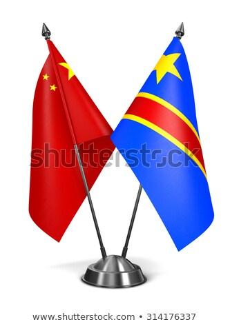 China and Democratic Republic Congo - Miniature Flags. Stock photo © tashatuvango