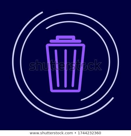 újrahasznosít · tároló · ibolya · vektor · ikon · terv - stock fotó © rizwanali3d