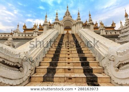 Entrance of the Shwe Nan Daw temple in Mandalay Stock photo © smithore
