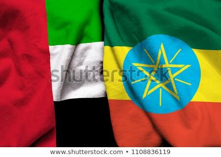 флаг · Эфиопия · иллюстрация · карта · Мир · Африка - Сток-фото © istanbul2009