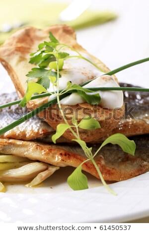 Panela frito truta batata comida Foto stock © Digifoodstock