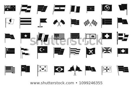 Bent icon with flag of germany Stock photo © MikhailMishchenko