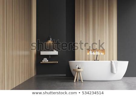 badkamer · detail · witte · familie · huis · ontspannen - stockfoto © paha_l