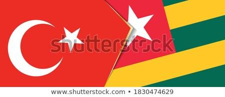 Türkiye Togo bayraklar bilmece yalıtılmış beyaz Stok fotoğraf © Istanbul2009