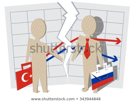 Conflict between Turkey and Russia. Gap between businessmen of contract Stock photo © orensila