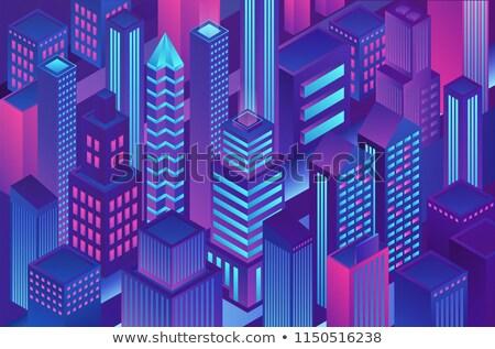 Segura transacción violeta vector icono diseno Foto stock © rizwanali3d