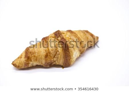 frescos · sabroso · croissant · edad · mesa · de · madera · grupo - foto stock © mcherevan