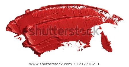 Red lipstick on white  Stock photo © neirfy