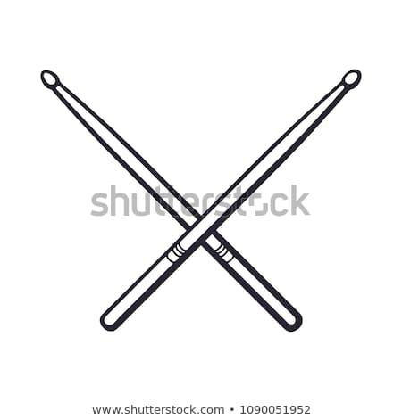 Drum with sticks line icon. Stock photo © RAStudio
