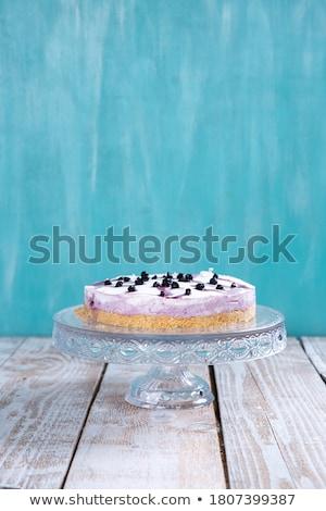 Torta crema queso postre pie Foto stock © Digifoodstock
