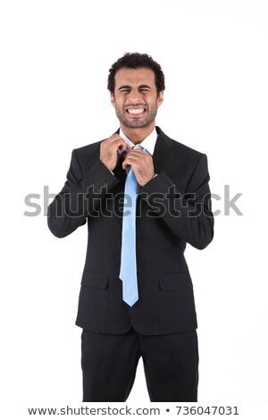 Adult man dissolving under stress Stock photo © stevanovicigor