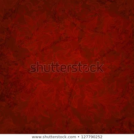 Corazón rojo seda amor palabra moda Foto stock © neirfy