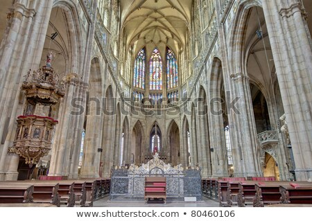 Interior of Saint Vitus Cathedral within the Castle of Prague Stock photo © razvanphotos