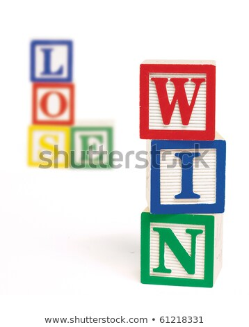 Win Lose Alphabet Blocks Stock photo © 3mc