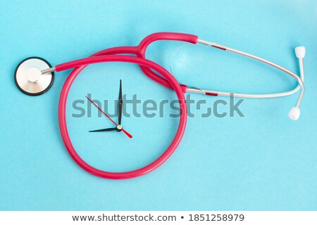 hypertension medical concept on blue background stock photo © tashatuvango