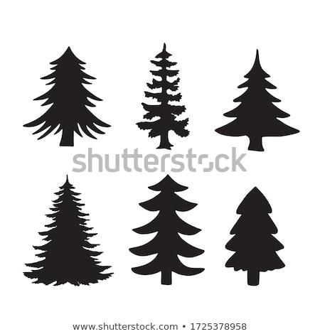 Stock fotó: Karácsony · fenyőfa · eps · 10 · papír · díszítések