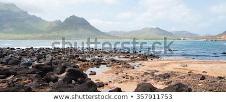 黒 岩 石 海岸 ラフ 風の強い ストックフォト © attiarndt