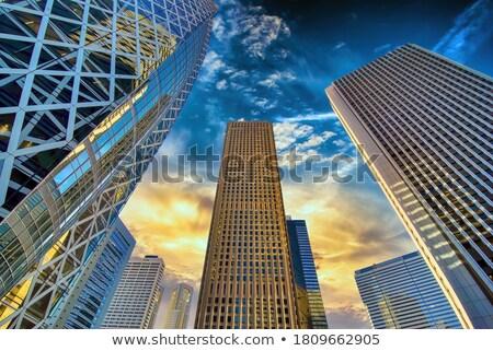 Oficina fachada tarde tarde cielo Foto stock © meinzahn