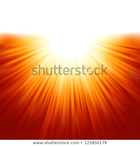 Bright background with rays in orange color. EPS 8 Stock photo © beholdereye