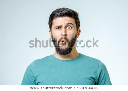 портрет · смешные · парень · человека · волос - Сток-фото © zurijeta