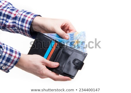 Wallet full of Swiss Francs Stock photo © funix