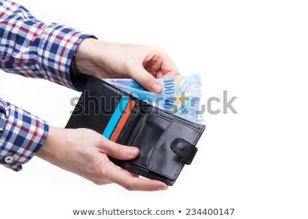 Wallet full of Swiss Francs stock photo © funix