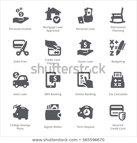 secured loan icon stock photo © wad