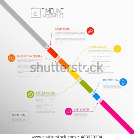 Infografika átló idővonal jelentés sablon vektor Stock fotó © orson
