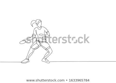 Proste rysunek ilustracja biały student Zdjęcia stock © bluering