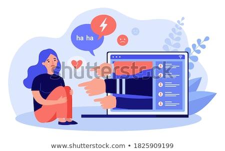Bullying on the web Stock photo © alphaspirit
