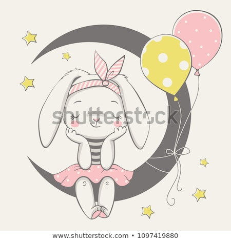baby girl shower card with animals stock photo © balasoiu