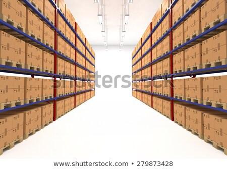 Foto d'archivio: Magazzino · scatole · retail · logistica