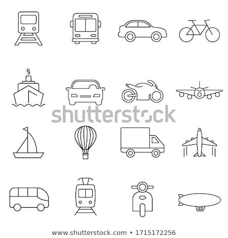 Metró vonat közlekedés ikon felirat logotípus Stock fotó © vector1st