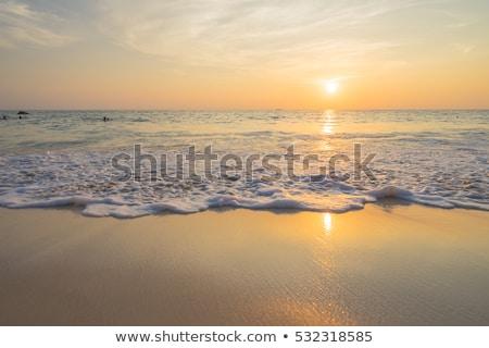 Gün batımı deniz görmek panorama fotoğraf ışık Stok fotoğraf © bank215