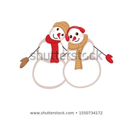 Varázslatos hóember tél ünnep vidám karácsony Stock fotó © Lightsource