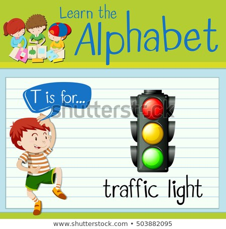 ábécé jelzőlámpa illusztráció gyerekek gyermek háttér Stock fotó © bluering