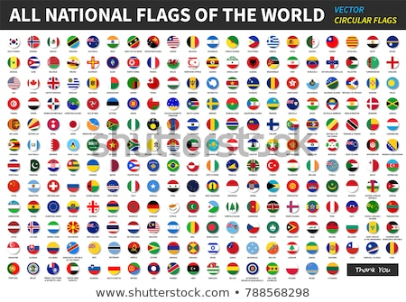 Foto d'archivio: South America Continent Flags Vector Icons Set