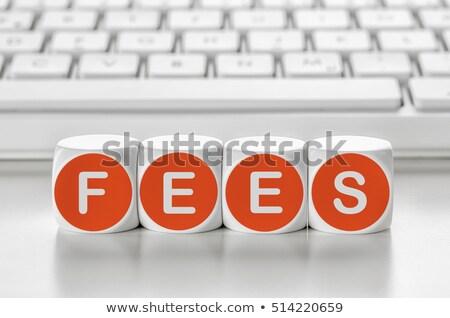 Brief dobbelstenen toetsenbord vergoedingen computer kantoor Stockfoto © Zerbor